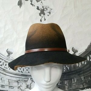 Accessories - Brown Ombre Felt Hat